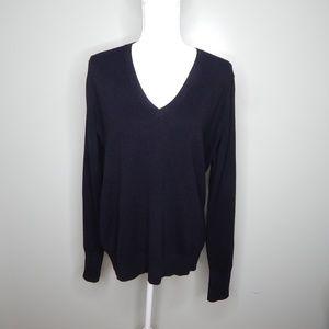 everlane women black cashmere sweater SZ L